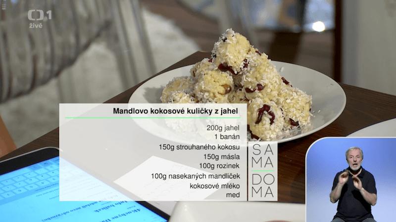 Mandlovo kokosové kuličky z jahel